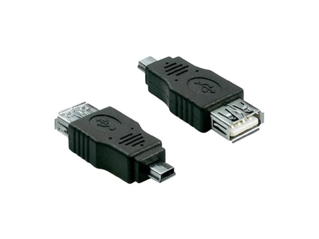 Female USB A 2.0 to Male Mini USB 5 pin Adapter for your