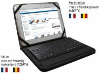 French Removable Bluetooth Keyboard Case for the Hp Omni 10