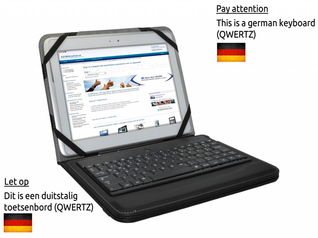 German Removable Bluetooth Keyboard Case for the